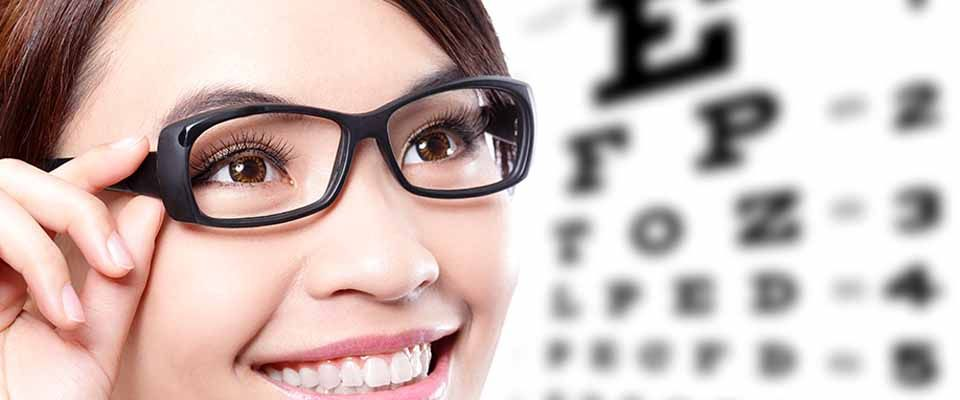 Glasses and eye test chart